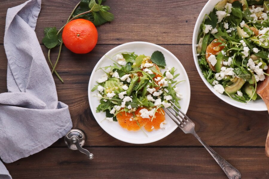 How to serve Avocado and Tangerine Salad with Spicy Vinaigrette