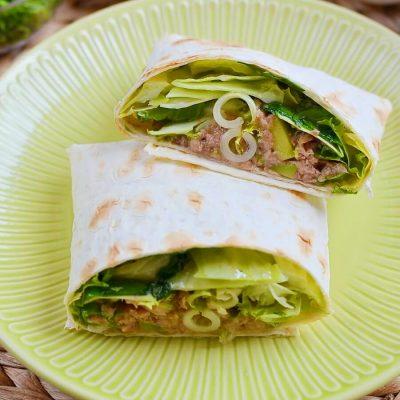 Avocado and Tuna Salad Wraps Recipe-How To Make Avocado and Tuna Salad Wraps-Delicious Avocado and Tuna Salad Wraps