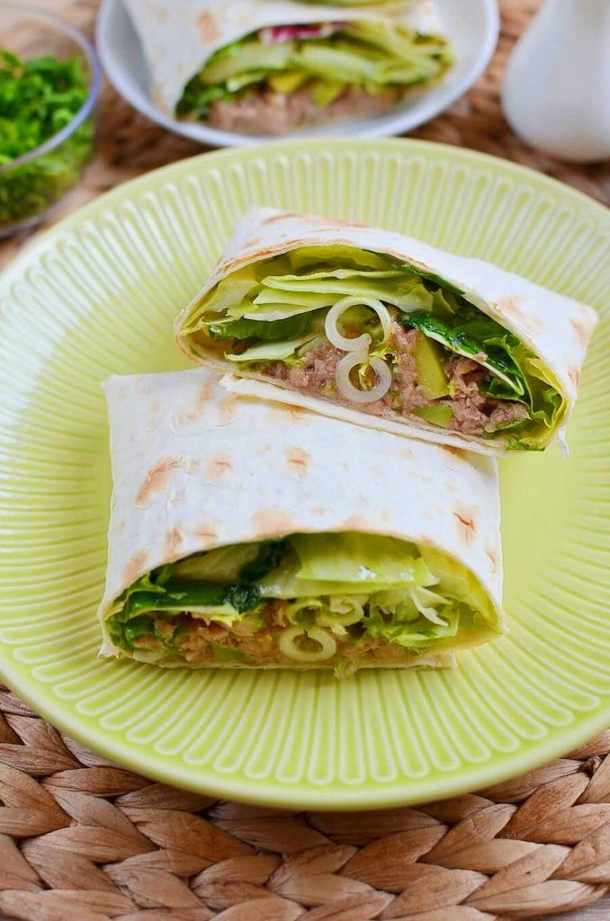 Gourmet Avo and Tuna Wraps