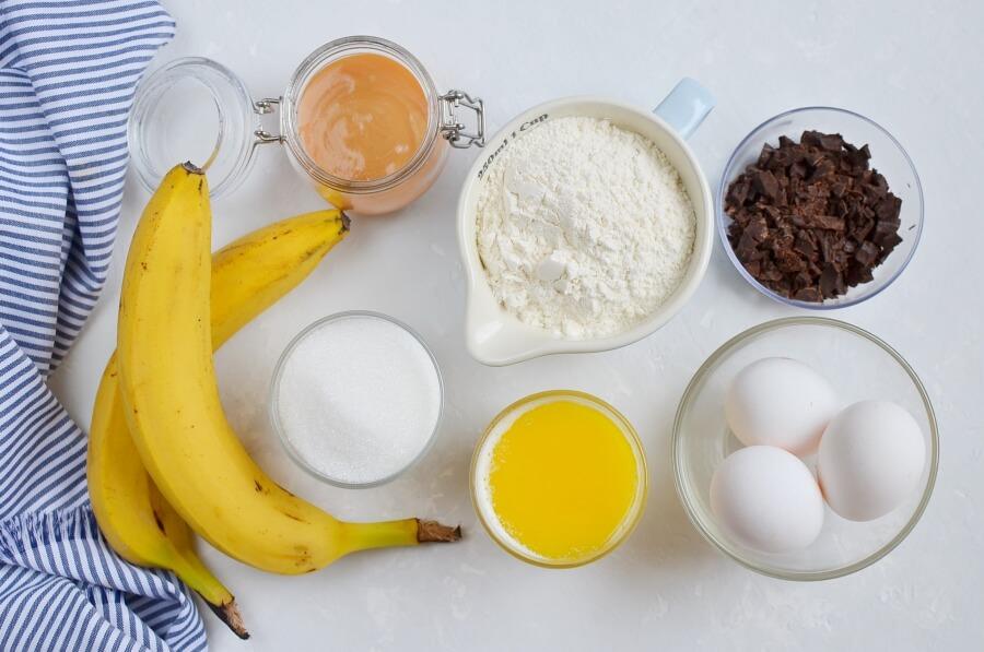 Ingridiens for Banana Blender Brownies