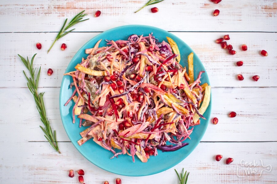 How to serve Beet and Pomegranate Kaleidoscope Salad