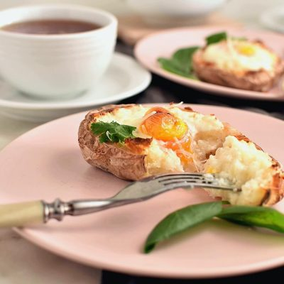 Breakfast Baked Potato Boat Recipe Recipe-How To Make Breakfast Baked Potato Boat-Easy Breakfast Baked Potato Boat