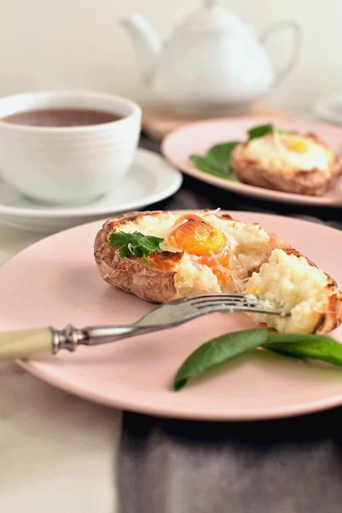 Eggs in a Potato Boat