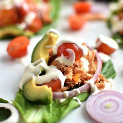 Buffalo Chicken Lettuce Wraps Recipe-Homemade Buffalo Chicken Lettuce Wraps -Delicious Buffalo Chicken Lettuce Wraps