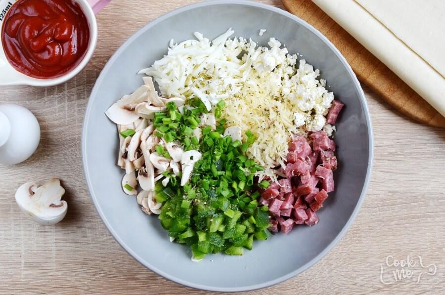 Calzone Pinwheels recipe - step 2
