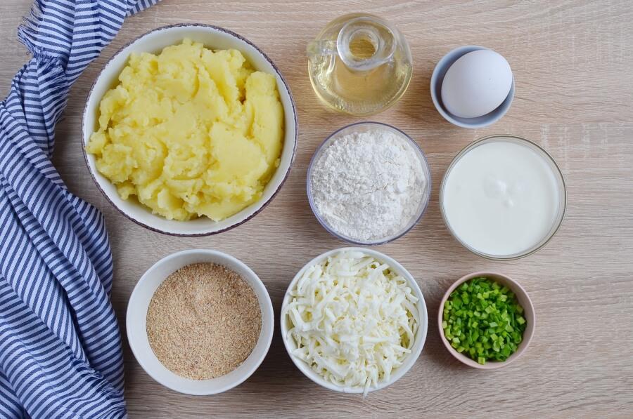 Cheesy Mashed Potato Pancakes Recipe-How To Make Cheesy Mashed Potato Pancakes-Delicious Cheesy Mashed Potato Pancakes