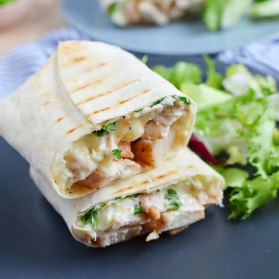 Chicken Ranch Wraps Recipe-How To Make Chicken Ranch Wraps-Delicious Chicken Ranch Wraps