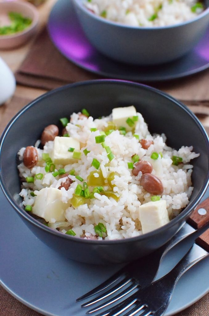 A delicious rice cooker meal