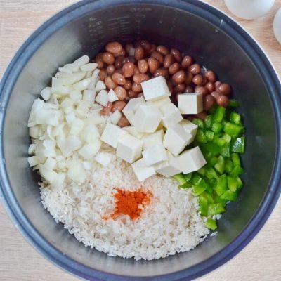 Chile Verde Tofu and Rice recipe - step 1