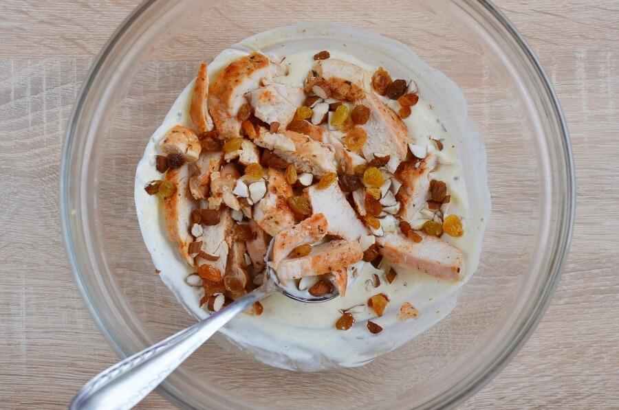 Coronation Chicken Salad Wraps recipe - step 2