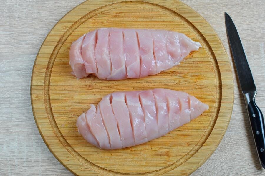 Creamy Keto Bacon Hasselback Chicken recipe - step 1