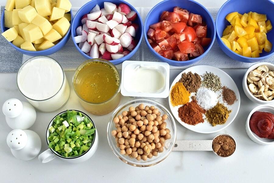 Ingridiens for Creamy Vegan Korma
