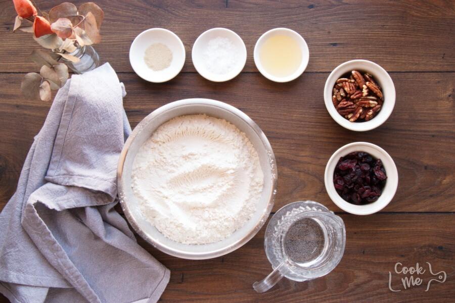 Crusty Cranberry Nut No Knead Bread Recipe-No Knead Crusty Cranberry Nut Bread-Easy No Knead Bread
