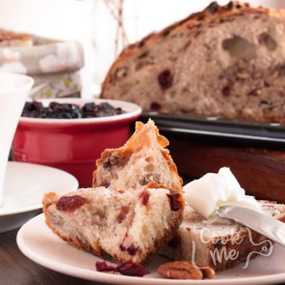 Crusty Cranberry Nut No Knead Bread Recipe-No Knead Crusty Cranberry Nut Bread-Easy No Knead Bread