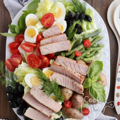 Easy Ahi Tuna Nicoise Salad Recipe-Salad Nicoise with Seared Tuna Recipe-Homemade Easy Ahi Tuna Nicoise Salad