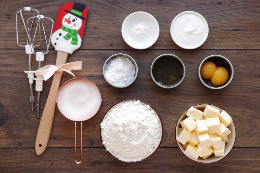 Ingridiens for Finnish Meringue Cookies