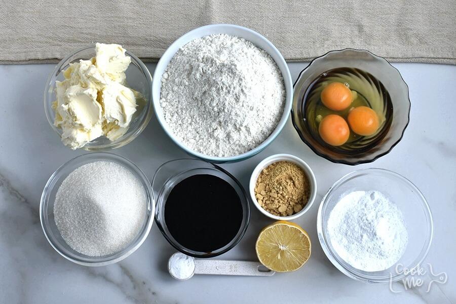 Ingridiens for Gingerbread Reindeer Recipe