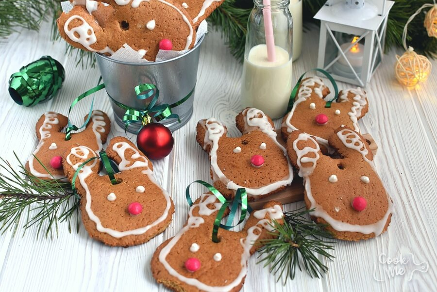 Gingerbread Reindeer Recipe-How To Make Gingerbread Reindeer-Delicious Gingerbread Reindeer