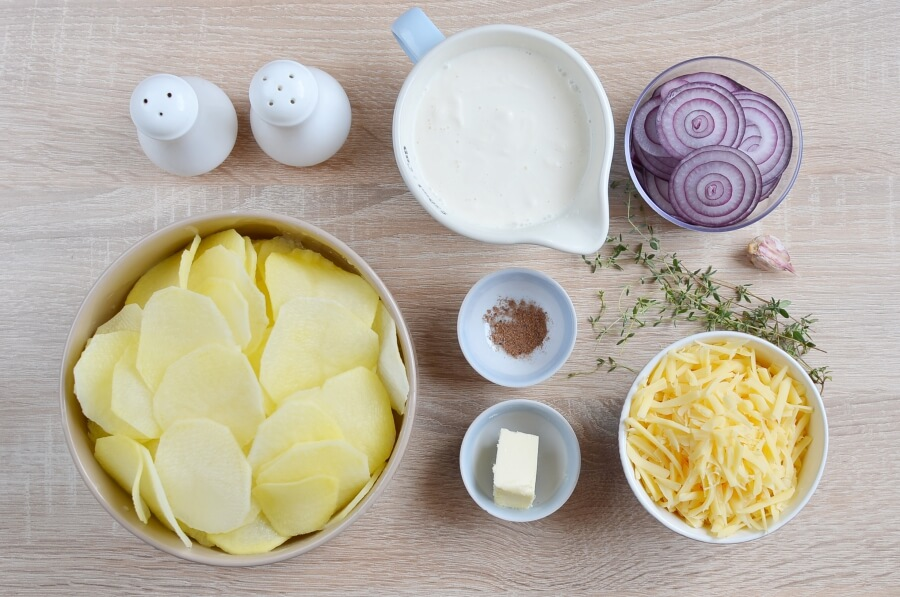 Ingridiens for Gratin Dauphinoise