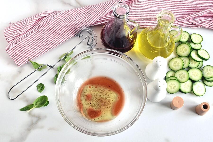 Greek Salad Wraps recipe - step 1
