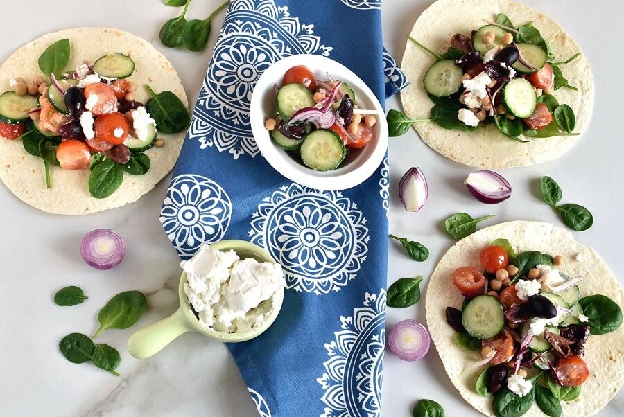 How to serve Greek Salad Wraps