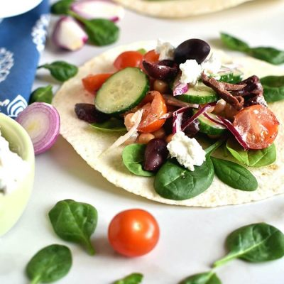 Greek Salad Wraps Recipe-How To Make Greek Salad Wraps-Easy Greek Salad Wraps