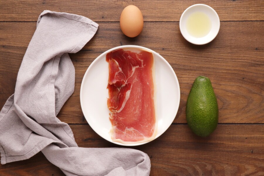 Ingridiens for Green Egg and Ham
