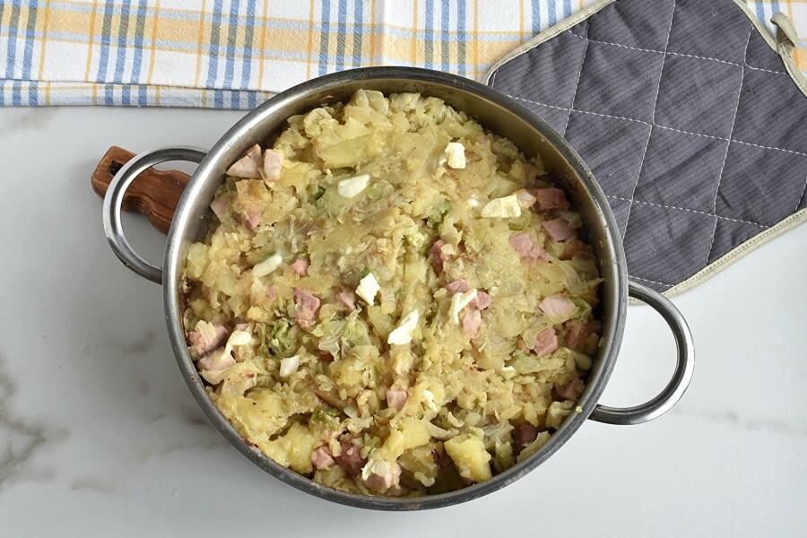 Ham Hock and Cabbage Hash recipe - step 6
