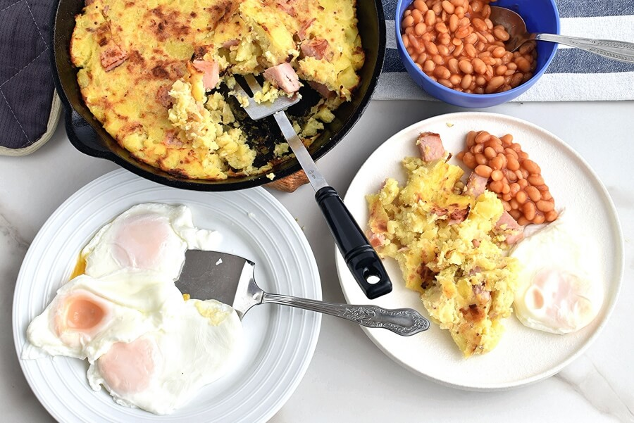 How to serve Ham & Potato Hash with Healthy 'Fried' Eggs