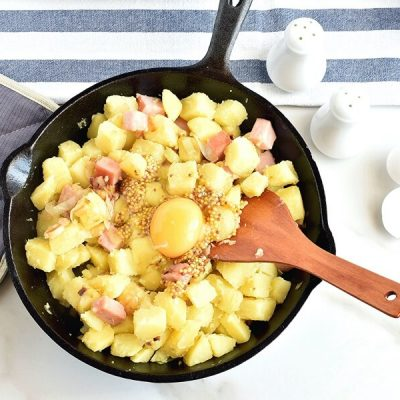 Ham & Potato Hash with Healthy 'Fried' Eggs recipe - step 5