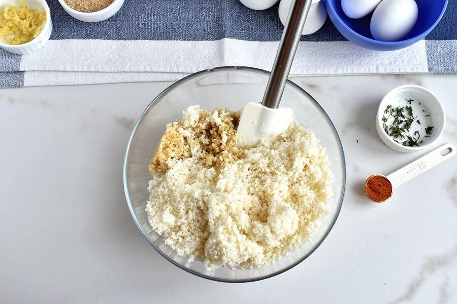 Herbed Cauliflower Quinoa Meatballs recipe - step 2