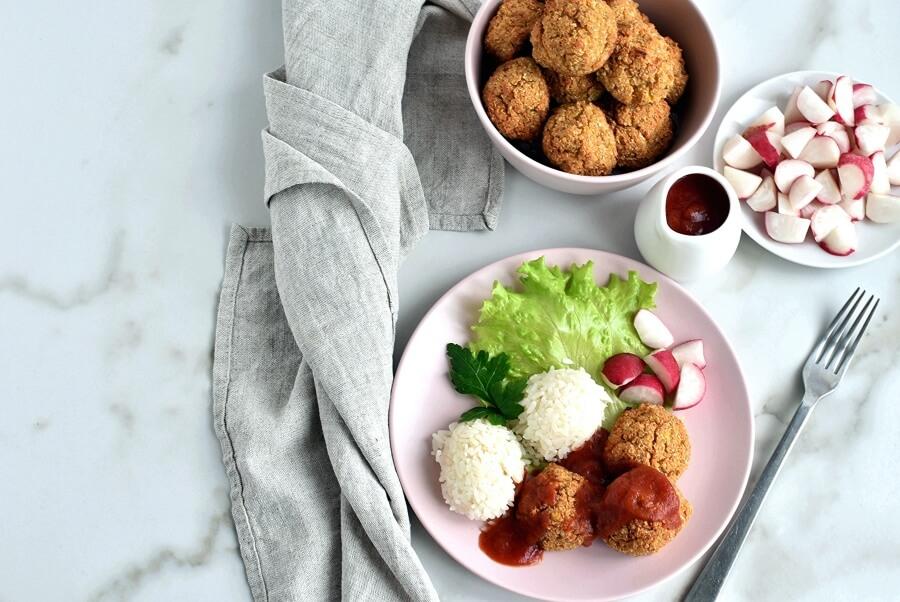 How to serve Herbed Cauliflower Quinoa Meatballs