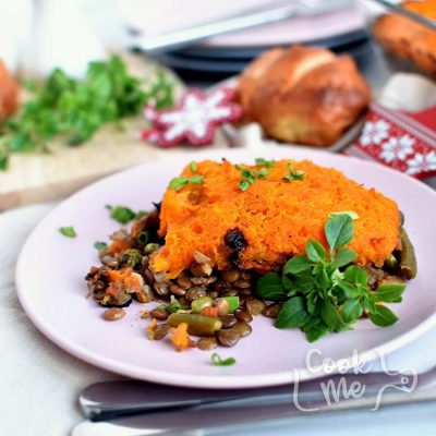 Lentil and Sweet Potato Shepherd's Pie Recipe-How To Make Lentil and Sweet Potato Shepherd's Pie-Delicious Lentil and Sweet Potato Shepherd's Pie