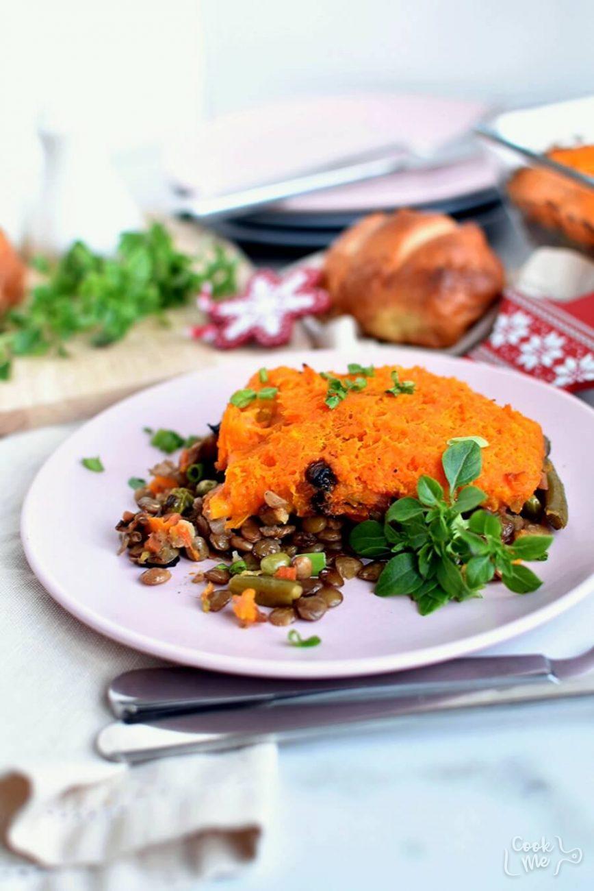 Lentil and Sweet Potato Shepherd's Pie