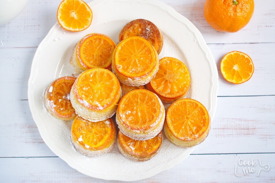 How to serve Mandarin Upside-Down Cakelets