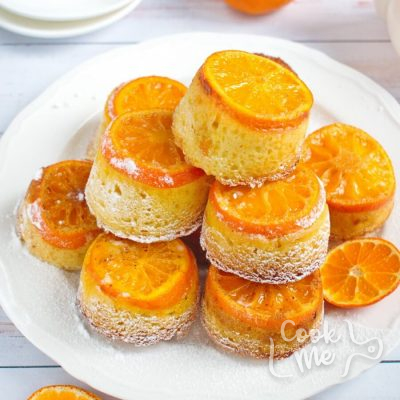 Mandarin Upside-Down Cakelets Recipe-How-to-make-Mandarin-Upside-Down-Cakelets-Mandarin & Orange Blossom Upside-Down Cakelets