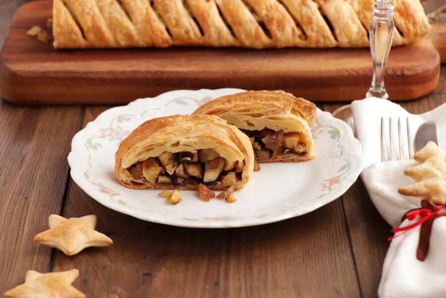 Maple Parsnip and Chestnut Wellington Recipe-Vegan Maple Parsnip & Chestnut Wellington-Easy Vegan Wellington