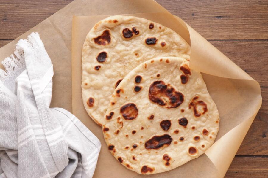 Mediterranean Chickpea Naan Wraps recipe - step 2