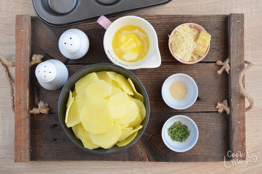 Ingridiens for Parmesan Potato Stacks