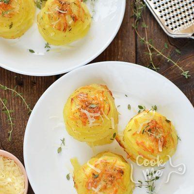 Parmesan Potato Stacks Recipe-How To Make Parmesan Potato Stacks-Delicious Parmesan Potato Stacks