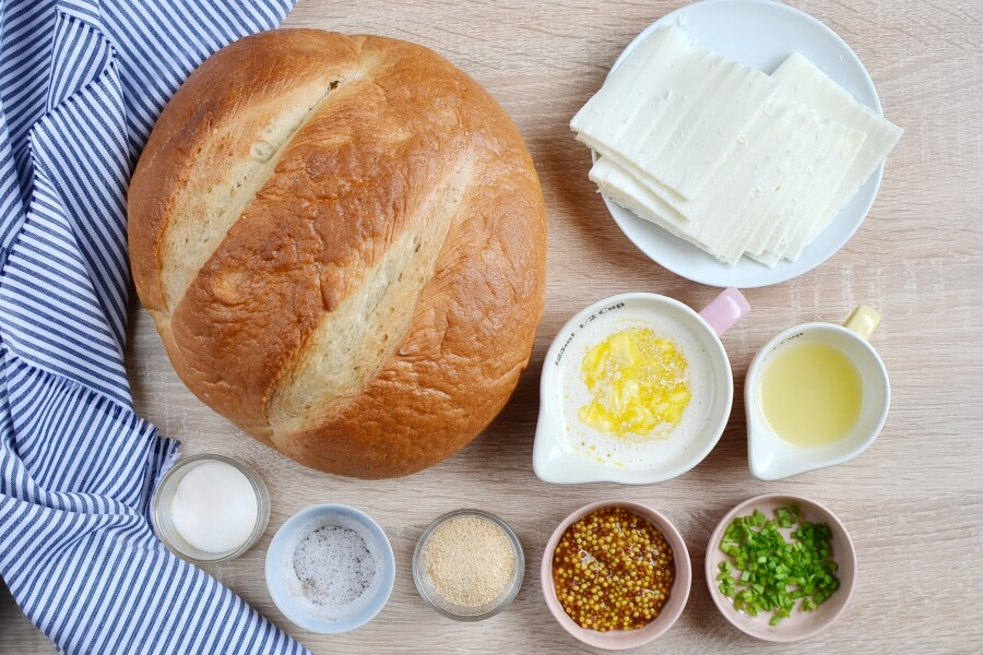 Ingridiens for Party Cheese Bread