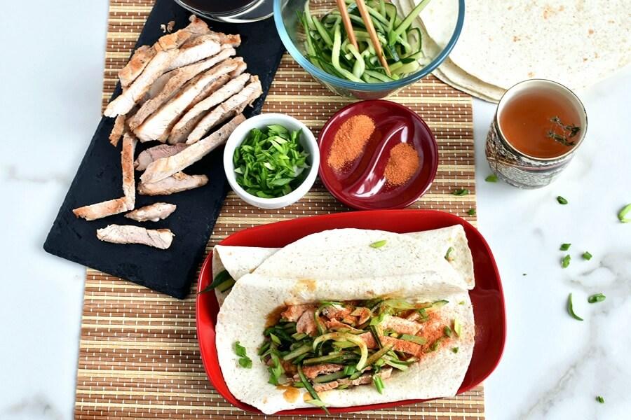 How to serve Peking Pork Wraps