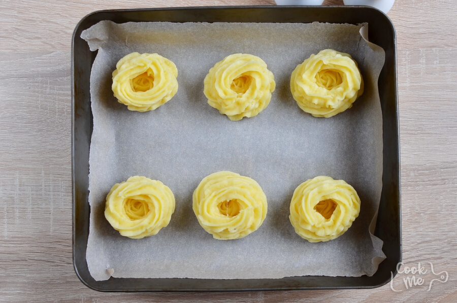 Potato Nests: Hearty Ham and Cheese Filling recipe - step 4
