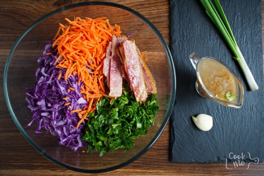 Red Cabbage, Bacon and Avocado Slaw recipe - step 3