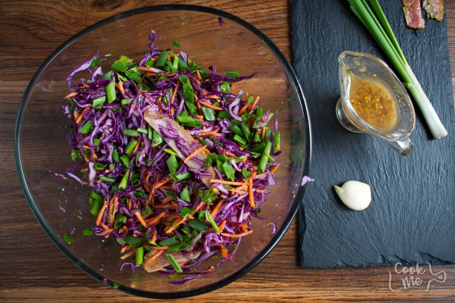 Red Cabbage, Bacon and Avocado Slaw recipe - step 5