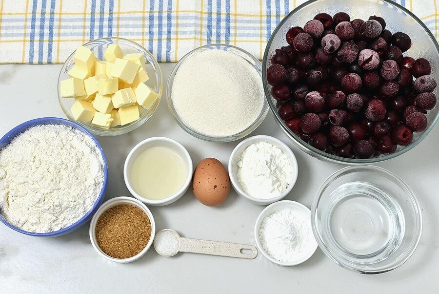 Ingridiens for Sheet Pan Cherry Pie