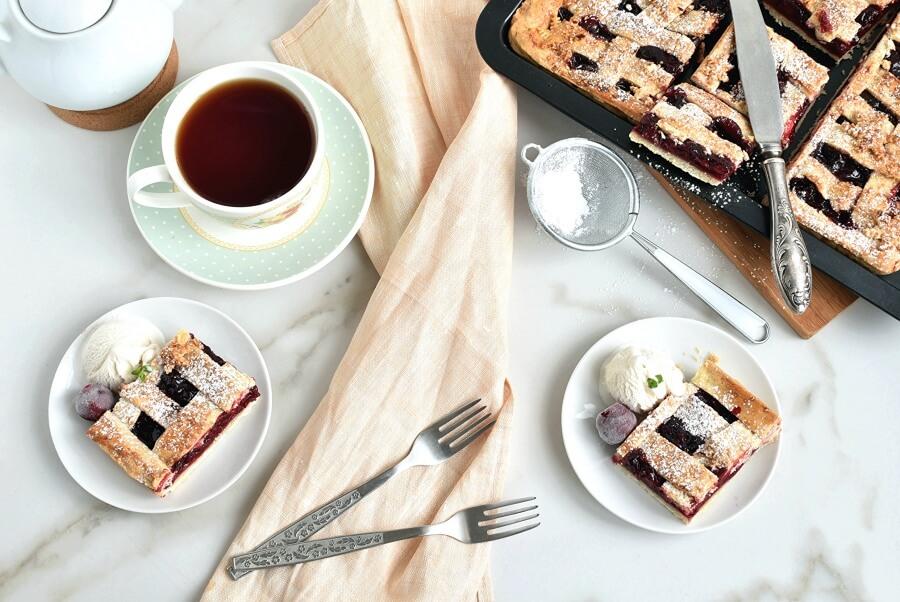 How to serve Sheet Pan Cherry Pie