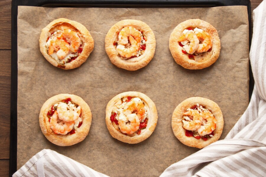 Shrimp and Goat Cheese Tarts recipe - step 6