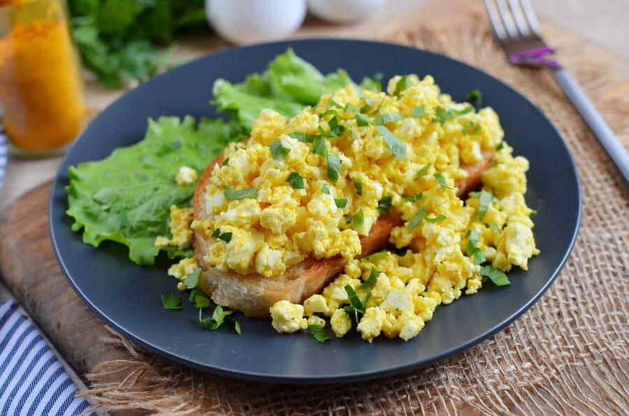Simple Vegan Scrambled Eggs Recipe-How To Make Simple Vegan Scrambled Eggs-Delicious Simple Vegan Scrambled Eggs