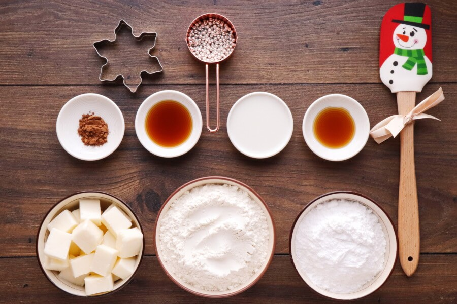 Ingridiens for Star Anise Cookies